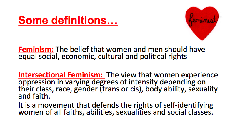 feminism is defined by the belief Feminism is defined by the belief that the personal is the political essay sample published by admin on january 4, 2018 discuss although non all strands of feminism advocator intervention in the personal lives of adult females feminism has proven to be unsuccessful in accomplishing full female emancipation by strictly concentrating on the.